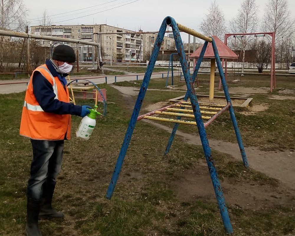 Дезинфекция детских площадок