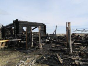 Пожар в селе Таушканское1