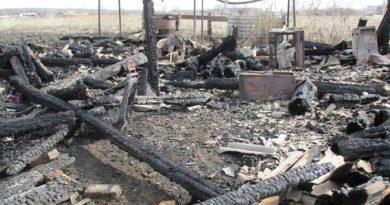 Пожар в селе Таушканское