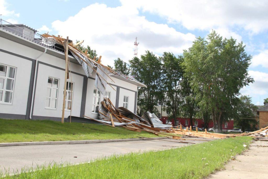 Здания после урагана