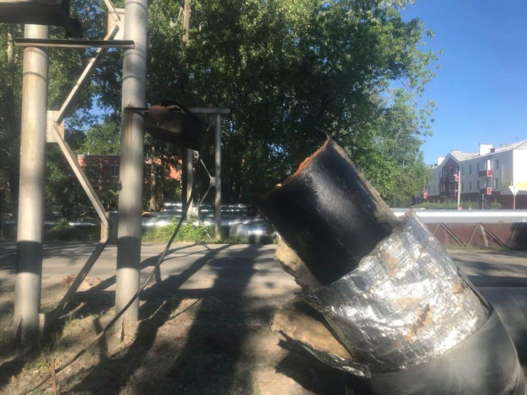 демонтаж теплотрассы в Сухом Логу