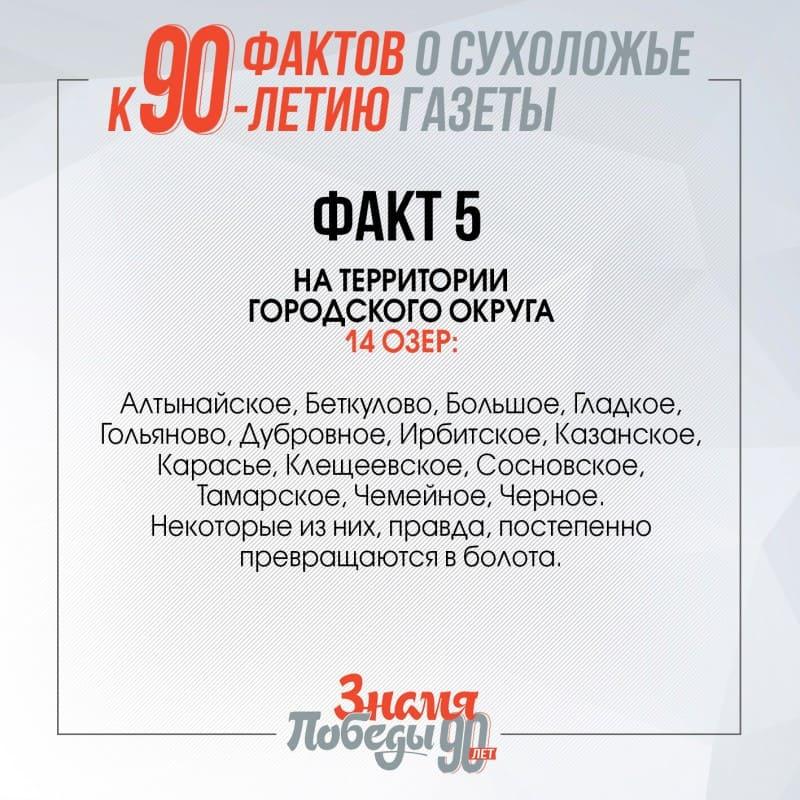 90 фактов о Сухоложье факт 5
