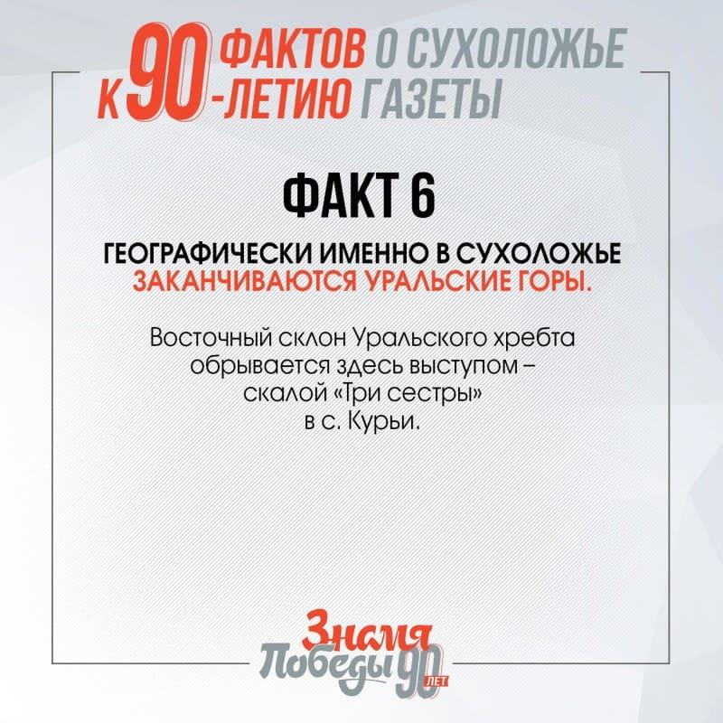 90 фактов о Сухоложье факт 6