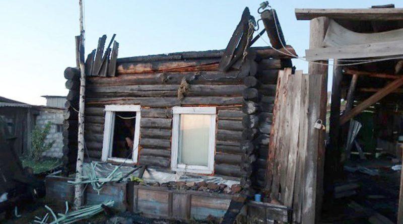 Пожар в деревне Сергуловка