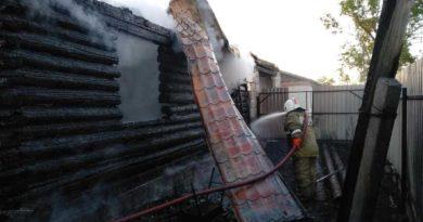 Пожар в селе Таушканском
