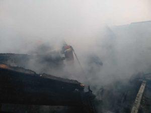 пожар в Таушканском