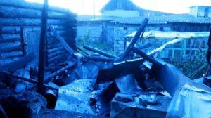 В деревне Сергуловка пожар