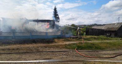Борьба с огнем в Курьях