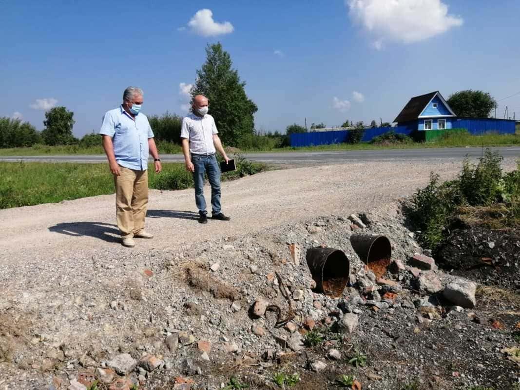 Депутаты Сухого Лога на приемке сельских дорог