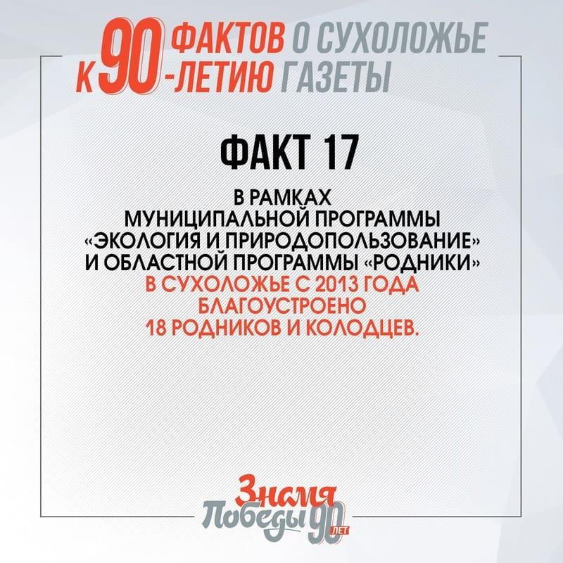 90 фактов о Сухоложье факт 17