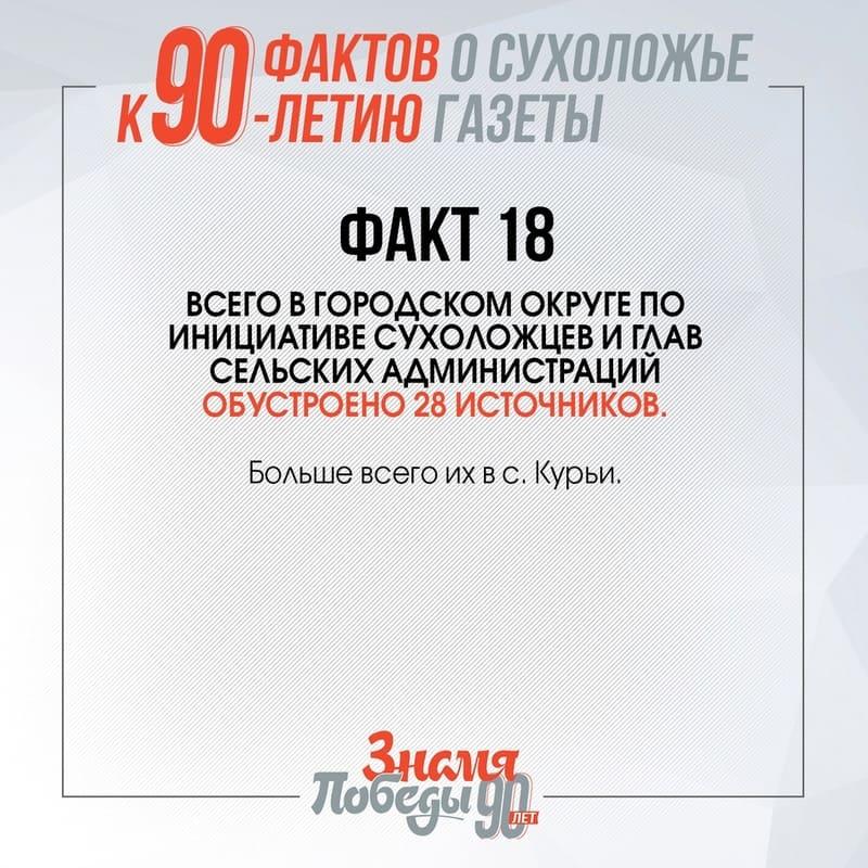 90 фактов о Сухоложье факт 18