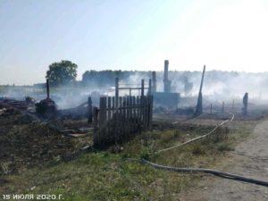 крупный пожар в Заимке
