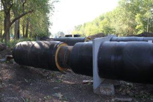 новые трубы для теплотрассы в Сухом Логу