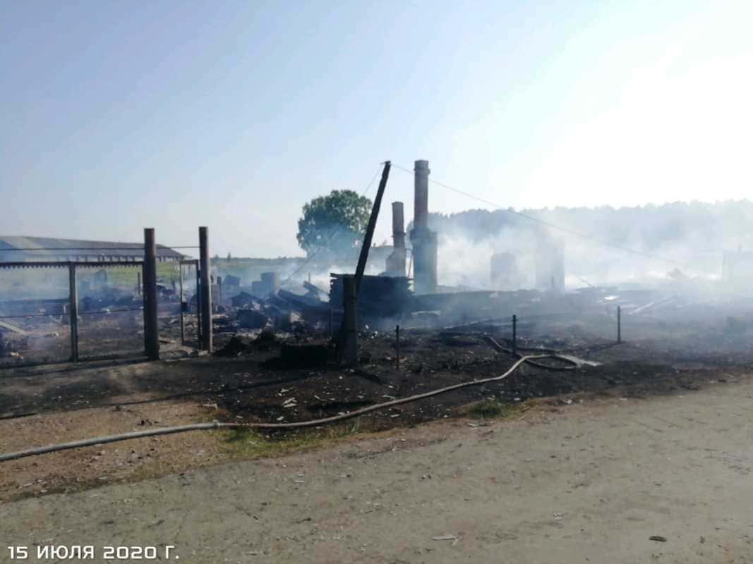 Пожар в д Заимка