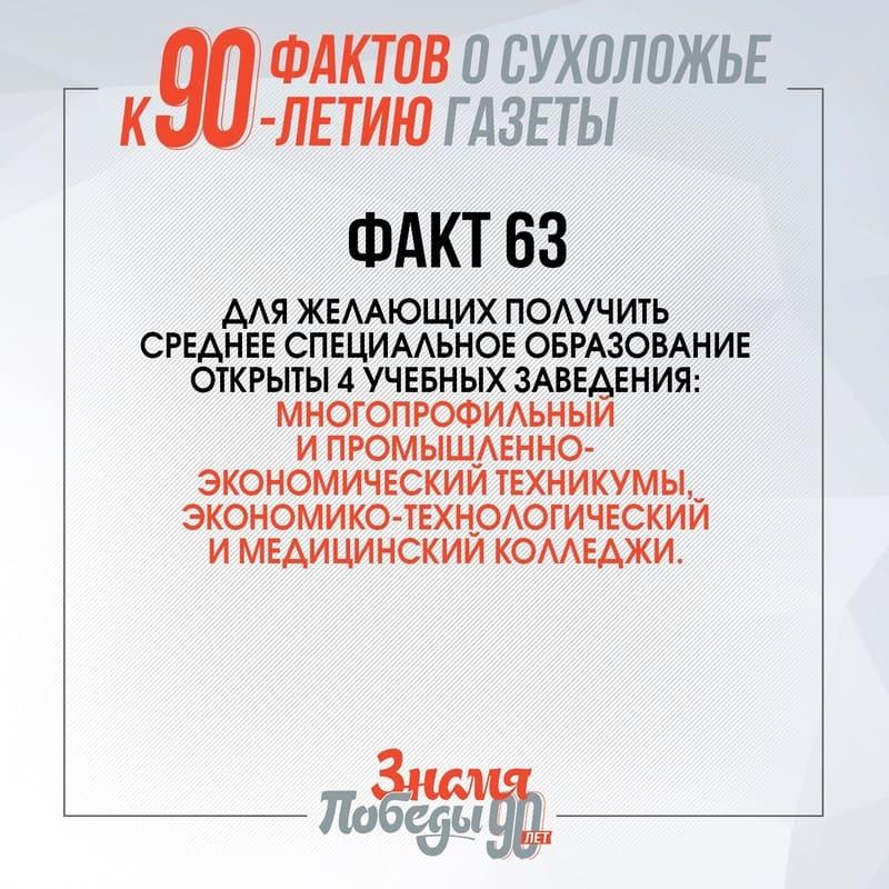 90 фактов о Сухоложье: Факт 63