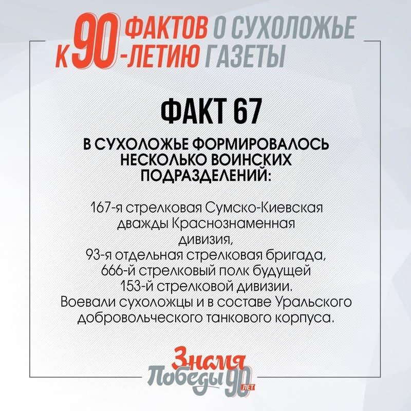 90 фактов о Сухоложье: Факт 67