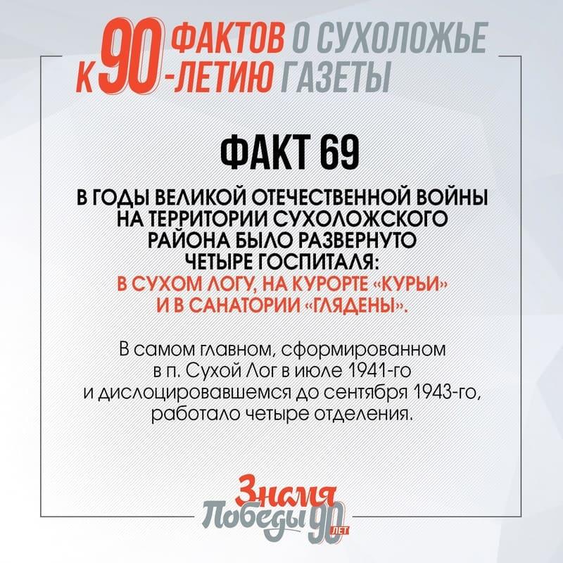 90 фактов о Сухоложье: Факт 69