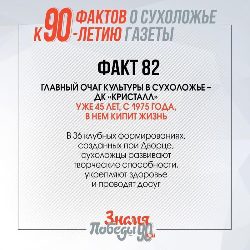90 фактов о Сухоложье: Факт 82