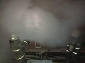 пожар в поселке Риковский
