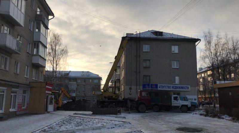 МУП Жилкомсервис СЛ устраняет аварию