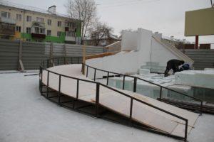 подготовка ледового городка