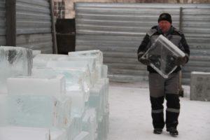 в Сухом Логу лед на ледовый городок