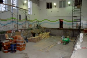 Капитальный ремонт в бассейне