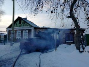 пожар в селе Курьи