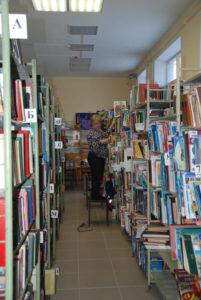 стеллажи библиотека Сухой Лог