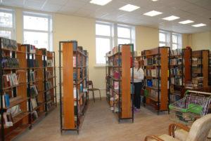 стеллажи в библиотеке Сухой Лог