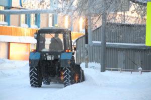 уборка снега в Сухом Логу