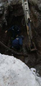Устранении аварии на водопроводе