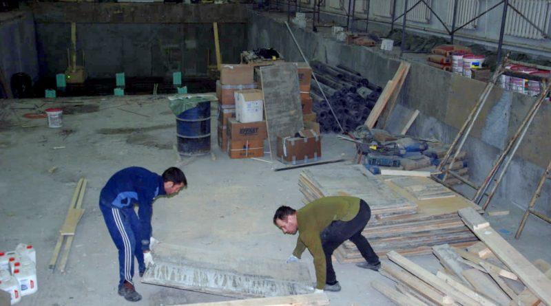 В бассейне идут ремонтные работы