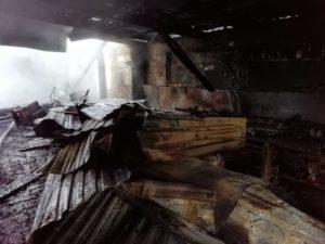 в селе Курьи пожар
