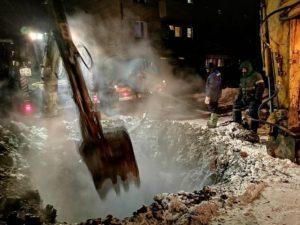 Авария на водопроводе в юго-западном микрорайоне Сухой Лог