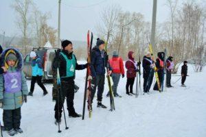 Новопышминские лыжники