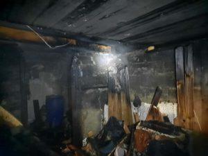 Пожар в селе Новопышминское