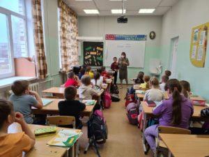 Классном часе в школе села Курьи