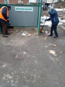 В Сухом Логу уборка мусора