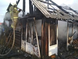 пожар в селе Рудянское