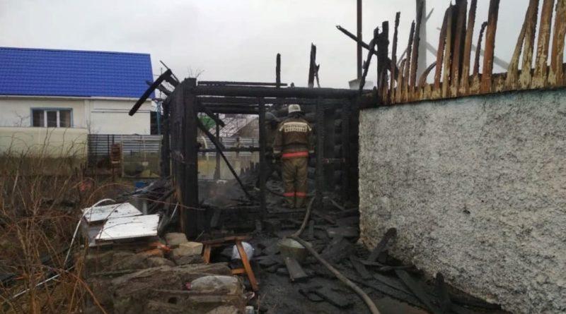 Пожар в деревне Брусяны