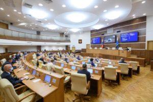 Евгений Куйвашев сегодня выступил перед Заксобранием