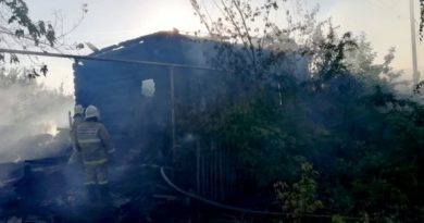 Пожар в г. Сухой Лог на ул. Ленина