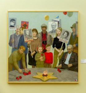 Крупным планом - картина Сергея Насташенко «У Вечного огня»
