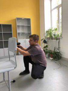 Сборка мебели для кабинета химии