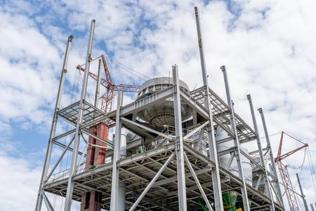 Строительство цементной мельницы на заводе в Коркино (п. Первомайский)