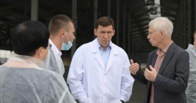 Евгений Куйвашев оценил новый животноводческий комплекс в Ирбитском муниципальном образовании