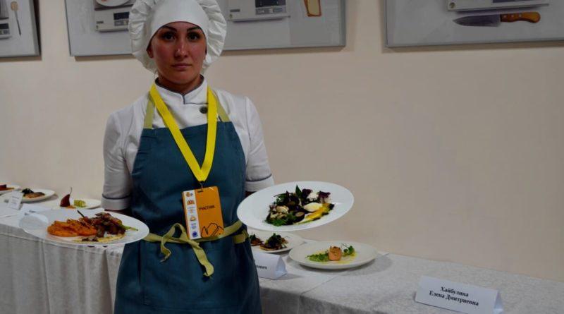 Елена Хайбулина с конкурсными блюдами