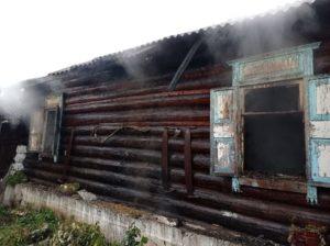 Пожар на улице Красных орлов в селе Курьи