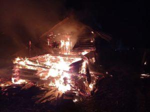 пожар в п. Алтынай
